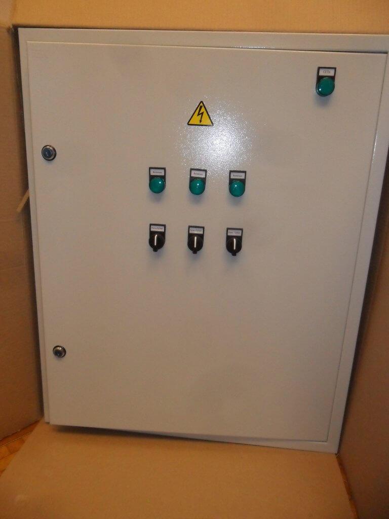 Автоматизация освещения. Шкаф управления. Вид снаружи