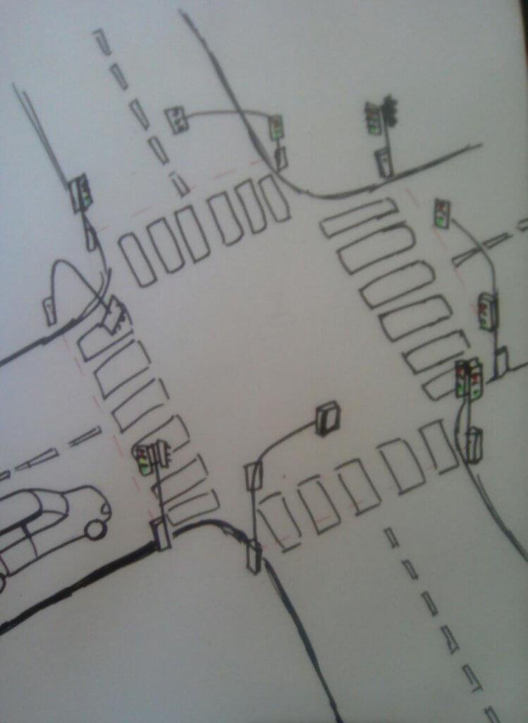Умный светофор. Идеальный свободный от пробок перекресток.